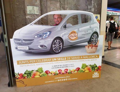 Isleña de Motores y el Mercat del Olivar celebran 100 años en Mallorca sorteando un Opel Corsa!