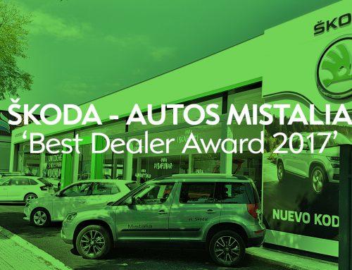 Nuestro concesionario Autos Mistalia recibe el premio a mejor concesionario Skoda de España