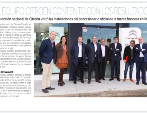 Auto Yabisa, concesionario Citroën de Ibiza, recibe visita y reconocimiento de Citroën España